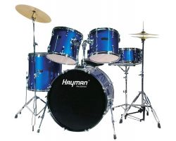 5 Piece Drum Kit Blue Available Now For Christmas!