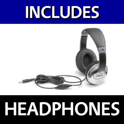 Includes Headphones